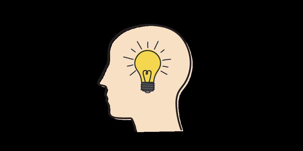 lightbulb in the mind
